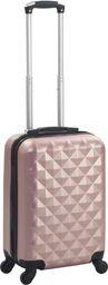 vidaXL Twarda walizka, różowe złoto, ABS