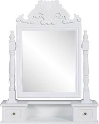 vidaXL Toaletka z MDF z obrotowym, kwadratowym lustrem