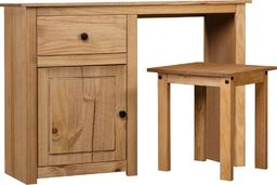 vidaXL Toaletka ze stołkiem, lite drewno sosnowe, seria Panama