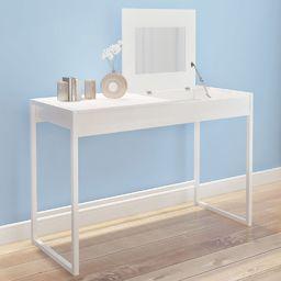 vidaXL Toaletka biała