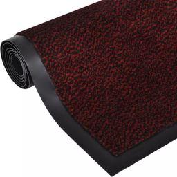 vidaXL Wycieraczka pod drzwi prostokątna 90 x 60 cm czerwona