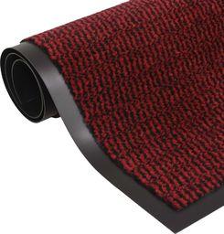 vidaXL Prostokątna wycieraczka przed drzwi 40 x 60 cm, czerwona