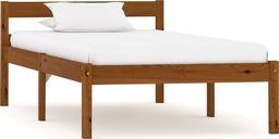 vidaXL Rama łóżka, miodowy brąz, lite drewno sosnowe, 100 x 200 cm