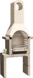vidaXL Betonowy grill z kominem, na węgiel drzewny