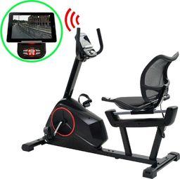 vidaXL Poziomy, programowalny rower treningowy z pomiarem tętna