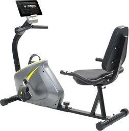 vidaXL Poziomy rower treningowy z pomiarem tętna