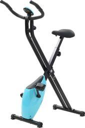 vidaXL Rower Magnetyczny X-bike z pomiarem tętna czarno-niebieski