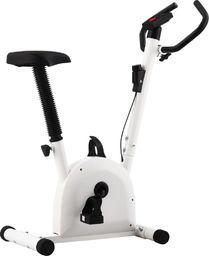 vidaXL Rowerek do ćwiczeń z paskiem oporowym, biały