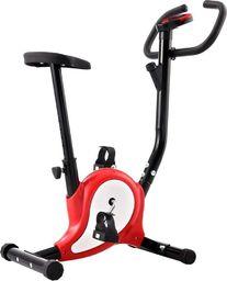 vidaXL Rowerek do ćwiczeń z paskiem oporowym, czerwony