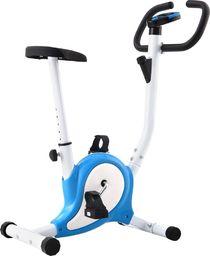 vidaXL Rowerek do ćwiczeń z paskiem oporowym, niebieski