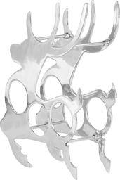 vidaXL Stojak na butelki, lite aluminium, 33x14x54 cm, srebrny