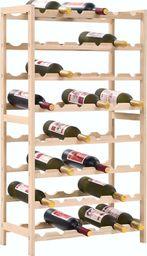 vidaXL Stojak na wino z drewna cedrowego, 57,5 x 28 x 102 cm