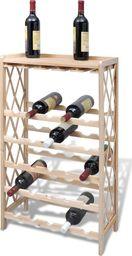 vidaXL Drewniany stojak na 25 butelek wina