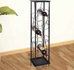 vidaXL Metalowy stojak na 8 butelek wina