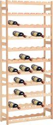 vidaXL Stojak na 77 butelek wina, drewno sosnowe FSC