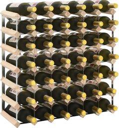 vidaXL Stojak na 42 butelki wina, lite drewno sosnowe