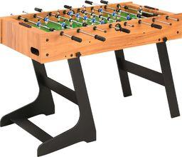 vidaXL Składany stół do piłkarzyków, 121 x 61 x 80 cm, jasnobrązowy