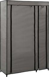 vidaXL Składana szafa, szara, 110 x 45 x 175 cm, tkanina