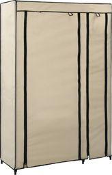vidaXL Składana szafa, kremowa, 110 x 45 x 175 cm, tkanina