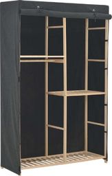 vidaXL 3-poziomowa szafa na ubrania, szara, 110 x 40 x 170 cm, tkanina