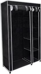 vidaXL Składana szafa 110x45x175 cm, czarna