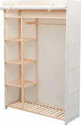 vidaXL Szafa z drewna sosnowego i tkaniny, 110 x 40 x 170 cm