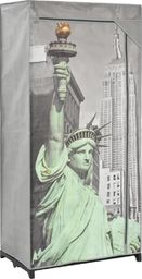 vidaXL Szafa Nowy Jork, 75x45x160 cm, tkanina