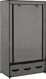 vidaXL Szafa, szara, 87 x 49 x 159 cm, materiałowa