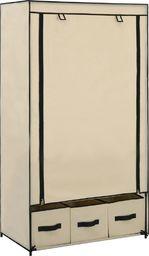 vidaXL Szafa, kremowa, 87 x 49 x 159 cm, materiałowa