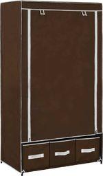 vidaXL Szafa, brązowa, 87x49x159 cm, materiałowa