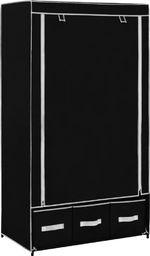 vidaXL Szafa, czarna, 87 x 49 x 159 cm, materiałowa