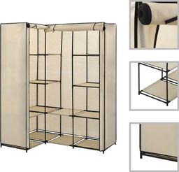 vidaXL Szafa narożna, kremowa, 130 x 87 x 169 cm