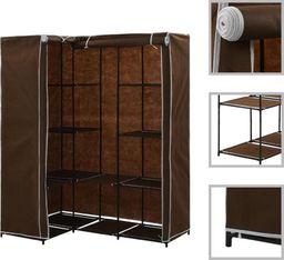 vidaXL Szafa narożna, brązowa, 130x87x169 cm