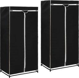 vidaXL Szafy, 2 szt., czarne, 75x50x160 cm