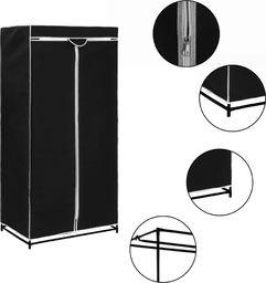 vidaXL Szafa, czarna, 75x50x160 cm