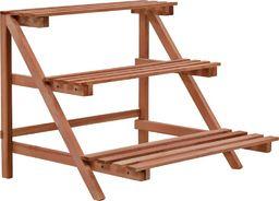 vidaXL 3-piętrowy regał na rośliny z drewna cedrowego, 48 x 45 x 40 cm