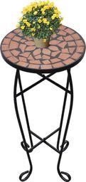 vidaXL Stolik boczny z mozaikowym blatem, terakota