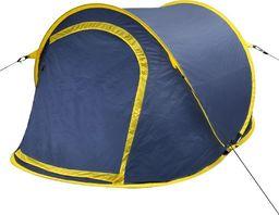 Namiot turystyczny vidaXL 2 osobowy żółty (90672)