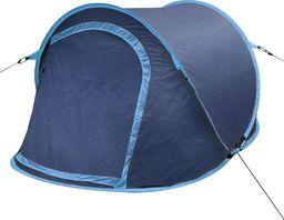 Namiot turystyczny vidaXL 2 osobowy niebieski (90670)