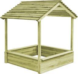 vidaXL Ogrodowy domek do zabawy z piaskownicą, drewno sosnowe FSC