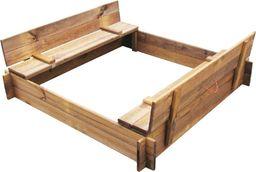 vidaXL Piaskownica, kwadratowa, impregnowane drewno FSC