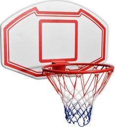 vidaXL Zestaw do koszykówki do montażu na ścianę, 3 elementy, 90x60 cm