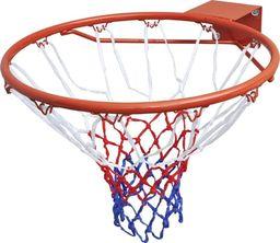 vidaXL Obręcz do gry w koszykówkę wraz z siatką