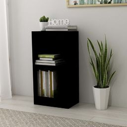 vidaXL Regał na książki, wysoki połysk, czarny, 40x24x75 cm