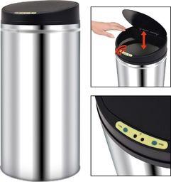 Kosz na śmieci vidaXL Automatyczny kosz na śmieci z czujnikiem, stal nierdzewna, 52 L