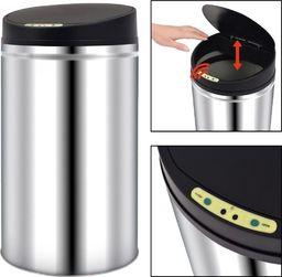 Kosz na śmieci vidaXL Automatyczny kosz na śmieci z czujnikiem, stal nierdzewna, 42 L
