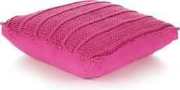 vidaXL Dziana poduszka podłogowa, kwadratowa, bawełna, 60x60cm, różowa