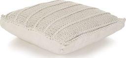 vidaXL Dziana poduszka podłogowa, kwadratowa, bawełna, 60x60 cm, biała