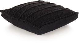 vidaXL Dziana poduszka podłogowa, kwadratowa, bawełna, 60x60cm, czarna