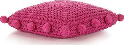 vidaXL Dziana poduszka podłogowa, kwadratowa, bawełna, 50x50cm, różowa
